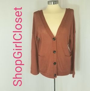 Sadie & Love Cardigan...Rust/Burnt Orange...Sz M